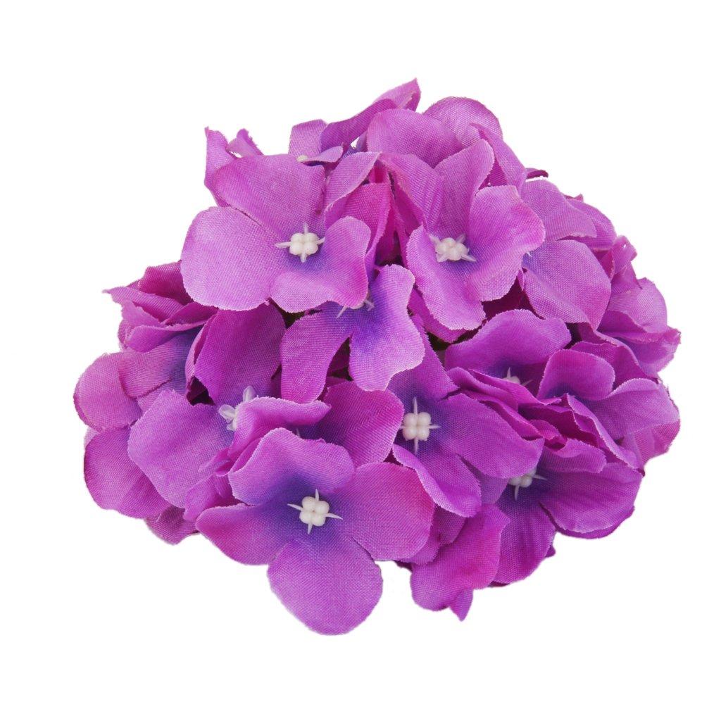 20x Artificial Purple Hydrangea Flowers Home Wedding Flower Head Decor Generic