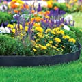 ABBA ECO Garden Border Fencing Eco-Friendly Weatherproof Recycled Plastic Resin Garden Edging Section-6 Pack, 24.2 inch x 5.4 inch, Black