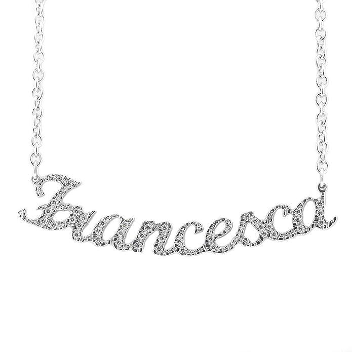 1 opinioni per Collana Swarovski con nome Francesca in argento 925 rodiato anallergico Made in