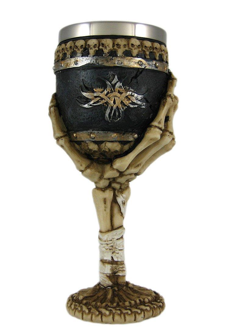 Bellaa 21022 Ossuary Style Skeletal Wine Goblet Bones 0811641021022