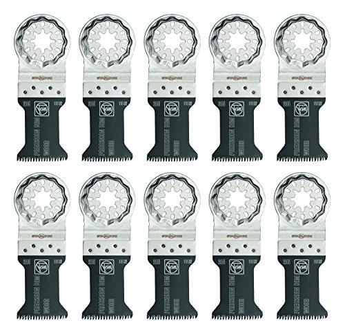 Fein 63502205290 Bi-Metal Precision Oscillating Multi-tool Blade (10 Pack), 1-3/8 x 2