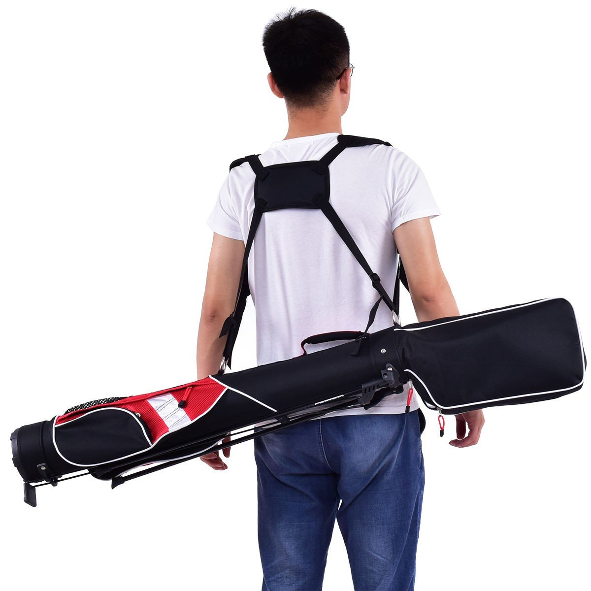 5'' Sunday Golf Bag Stand 7 Clubs Carry Pockets - By Choice Products by By Choice Products (Image #5)