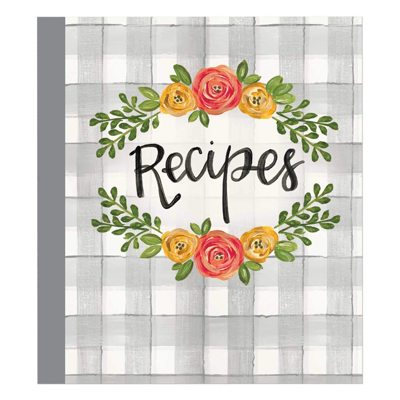 Brownlow Gifts 72597 Binder with Plastic Page Protectors and Recipe Cards, 8 x 9-Inches, Floral by Brownlow Gifts