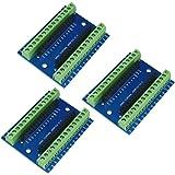 WYPH Nano Terminal Adapter Shield Expansion Board for Arduino Nano V3.0 AVR ATMEGA328P-AU Module (Terminal Adapter 3pcs)