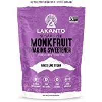 Lakanto Baking Monkfruit Sweetener - 1:1 Baking Sugar Substitute, Zero Calorie, Keto Diet Friendly, Zero Net Carbs, Zero…