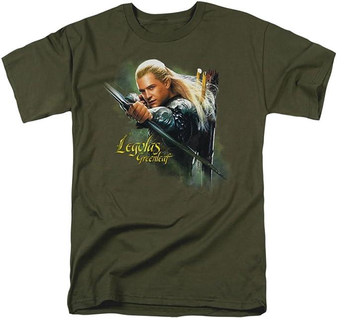 Hobbit Legolas Greenleaf Mens Camisa Manga Corta (Verde Militar, XXX-Grande): Amazon.es: Ropa y accesorios