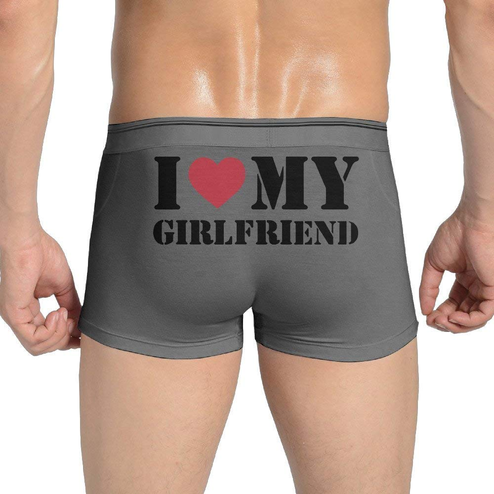 Cap New I Love My Girlfriend Mens Seamless Boxer Briefs Underpants