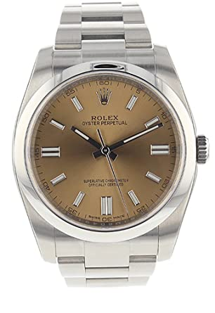 268be38b58b Amazon.com: Rolex Date 36mm Smooth White Grape Dial Stainless Steel ...