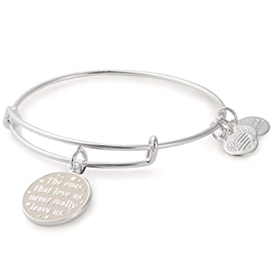 0ae8b39fe1fff0 Amazon.com: Alex and Ani Women's Harry Potter The Ones That Love Us Bangle  Bracelet Shiny Silver One Size: Jewelry