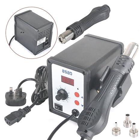 Nuevo Rayinblue 858d SMD LED Digital Display Calefacción Soldador DESOLDADOR estación de aire caliente Rework pistola