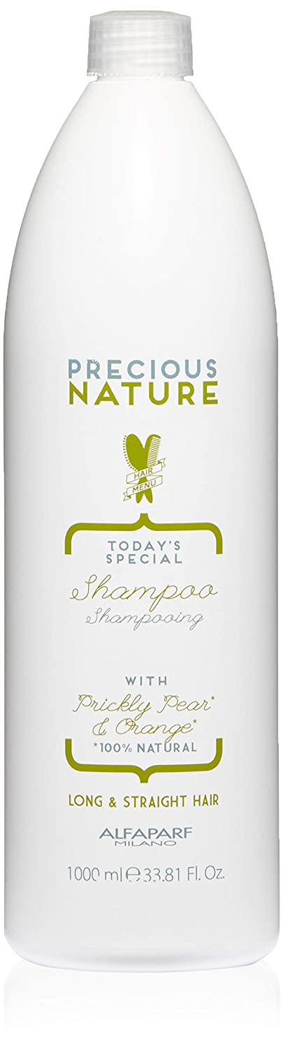 Alfaparf Milano Precious Nature Today's Special Shampoo, Prickly Pear and Orange, Long & Straight Hair, 33.81 Fl Oz