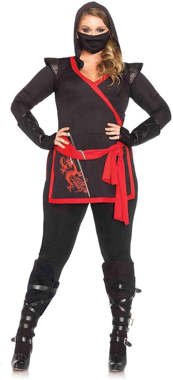 Leg Avenue Women's Plus-Size 4 Piece Ninja Assassin Costume