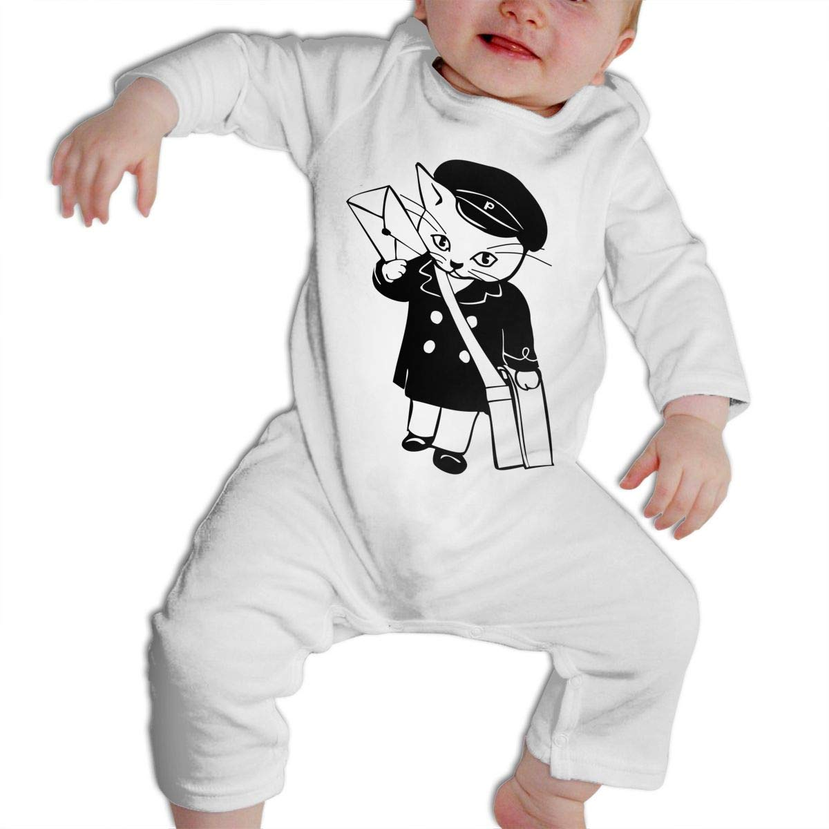 6ed8d079e58f Amazon.com  SARA NELL Baby Boys   Girls Bodysuit Postman Cat ...