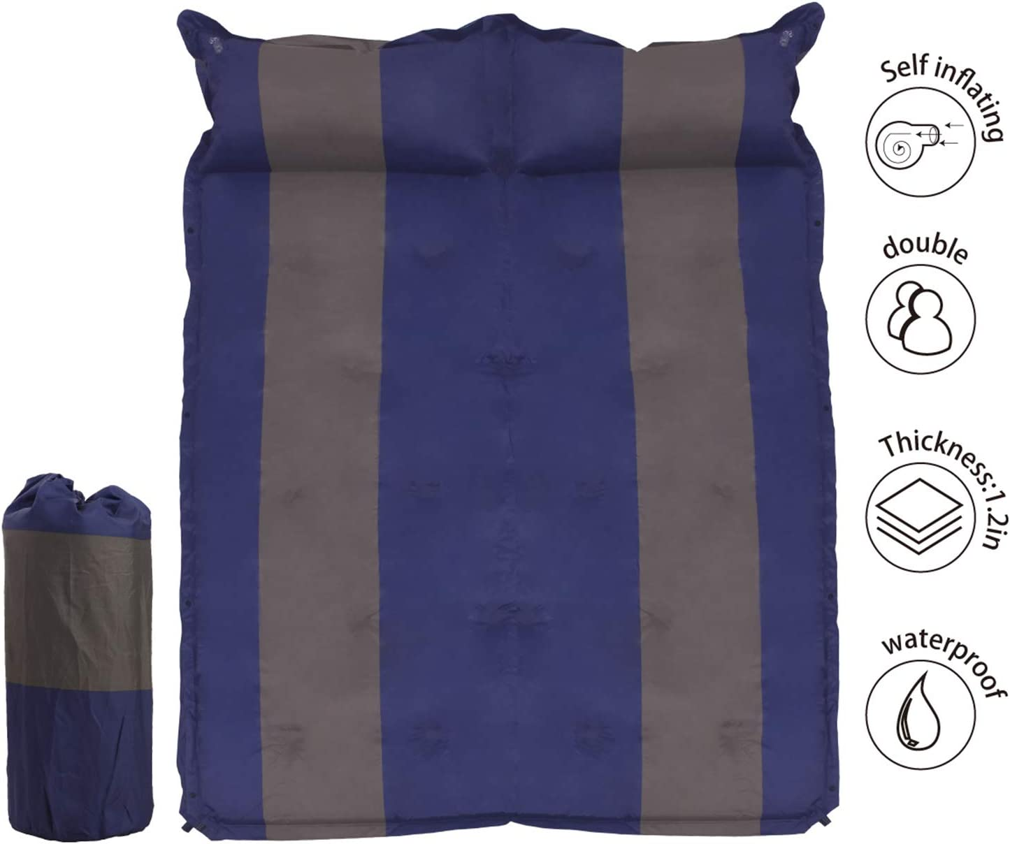 WILD FUN 2 Person Double Self-Inflating Sleeping Pad