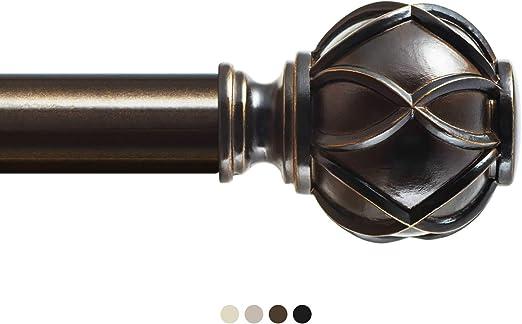 Amazon Com Kamanina 1 Inch Curtain Rod Single Drapery Rod 36 To