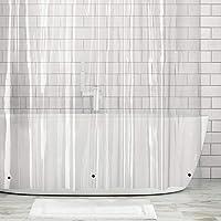 mDesign Long Waterproof, Mold/Mildew Resistant, Heavy Duty Premium Quality 10-Guage Vinyl Shower Curtain Liner Bathroom…