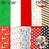 150 Sheets Christmas Tissue Paper Assorted Design; Easy and Fast Gift Wrapping Accessory Perfect for Christmas Gift Boxes, Xmas Gift Wrapping Bags and Wine Bottles by Joiedomi