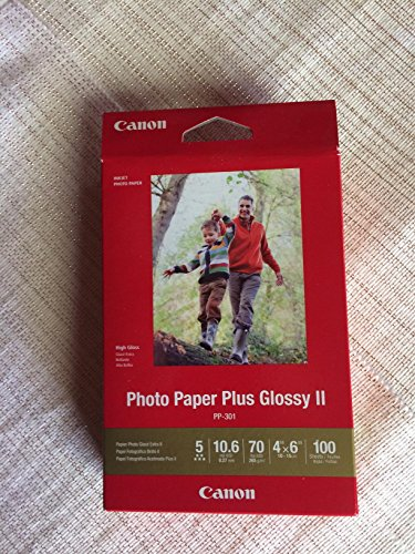 "CanonInk Photo Paper Plus Glossy II 4"" x 6"" 100 Sheets (1432C006)"