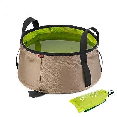 Yulan 10L d'eau Lavabo ultraléger Portable d'extérieur en nylon pliable Trousse de toilette Bain de pieds équipement de camping de voyage Kits