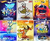 Cartoon Hot Wheels Characters Animal The Muppets, SpongeBob SquarePants Dairy Delivery, Hagar the Horrible Nomad, The Jetsons Ford, Hong Kong Phoey Panel Truck, Archie Comics Super Van Pop Culture set