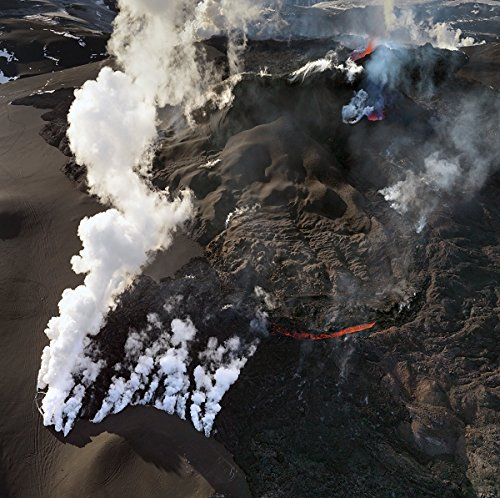Volcanic Eruption in glacier Eyjafjallajokull and Fimmvorduhals, Iceland 30x40 photo reprint by PickYourImage