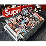 Laptop Stickers [107pcs], Toufftek Vinyl Sticker Graffiti Bomb Decal Perfect to Personalize Laptops, Skateboards, Luggage, Cars, Bumpers, Bikes, Motorcycle, Helmet, Window, Guitar, Snowboard Stickers