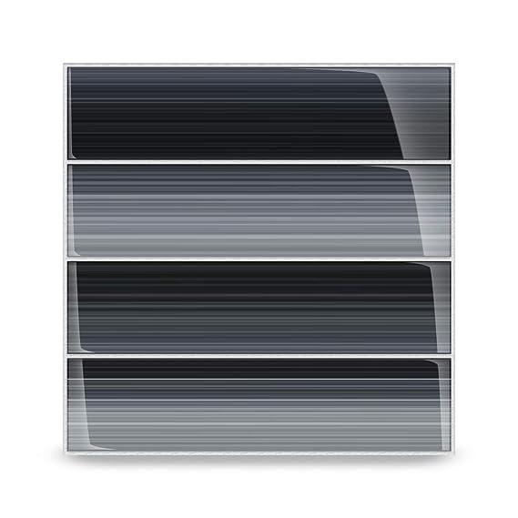 Amazon.com: vidrio Negro Azulejo – Tarde en la noche Subway ...