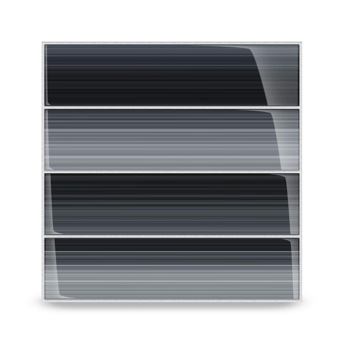 Bodesi Late Night Glass Subway Tile for Kitchen Backsplash or Bathroom, 3x12