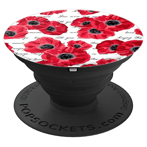 Amazon love poppies poppy popsockets grip and stand for love poppies poppy popsockets grip and stand for phones and tablets mightylinksfo