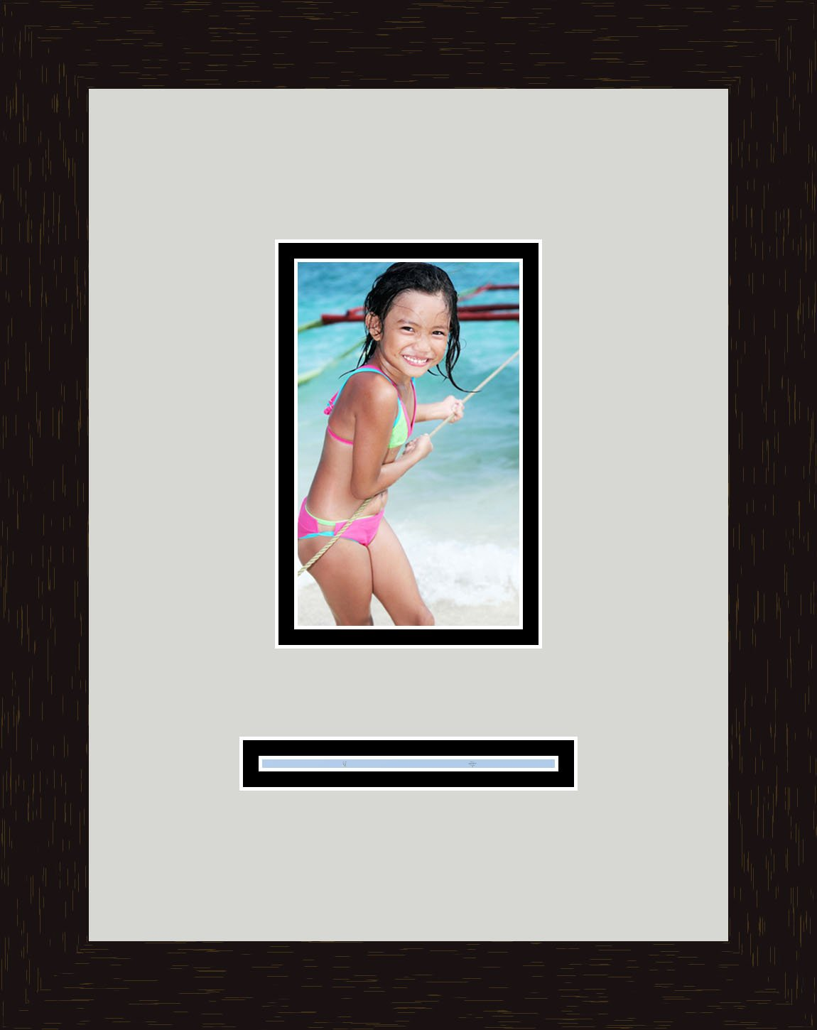 Art to Frames Double-Multimat-786-756//89-FRBW26061 Collage Frame Photo Mat Double Mat with 1-4x6 and 1-1x5 Openings and Espresso Frame