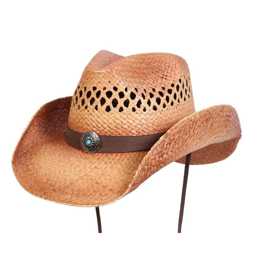 Conner Hats Joshua Tree Western Raffia Hat Caramel