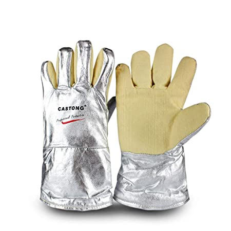 CHAI Guantes de Aluminio de Alta Temperatura para Horno Industrial ...