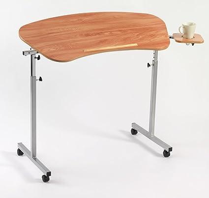 Disco DeVilbiss Healthcare altura ajustable curvado mesa auxiliar para silla (con pequeña mesa auxiliar