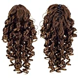 SWACC 12-Inch Short Screw Curls Claw Clip Ponytail Extensions Synthetic Clip in Drawstring