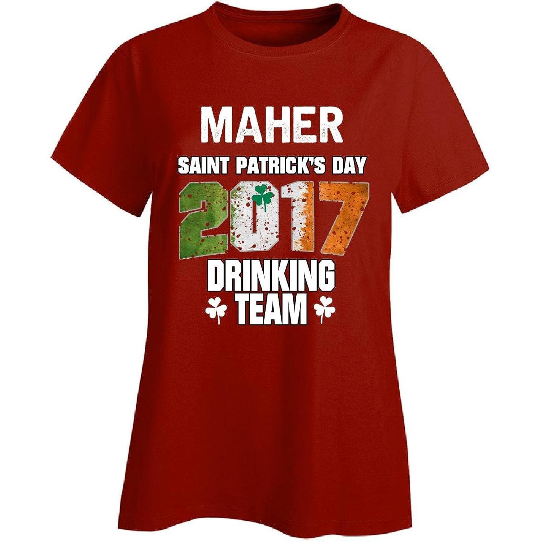 Maher Irish St Patricks Day 2017 Drinking Team - Ladies T-shirt
