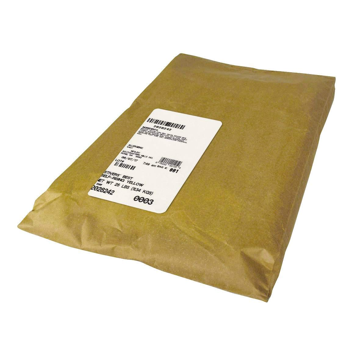 Southeastern Mills Stivers Best Plain Self Rising Yellow Cornmeal, 25 Pound - 1 each.