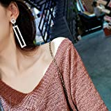 Generic Korea temperament super flash diamond earrings earrings long section of the influx of people in Europe and America sexy nightclub exaggerated geometric pendant earrings