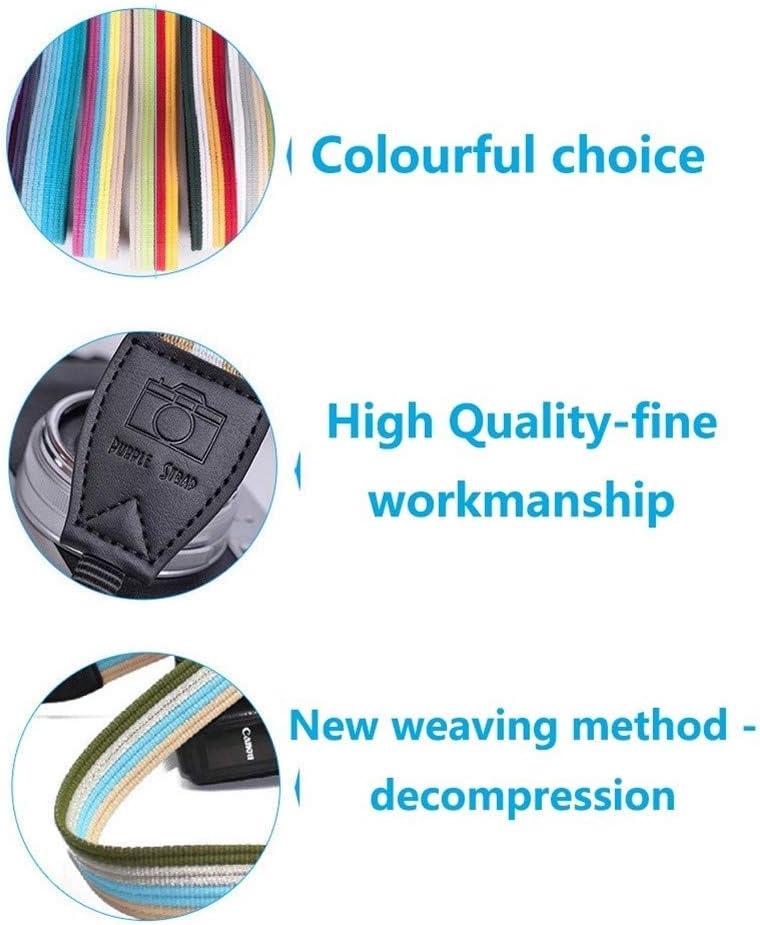 Color : AC 17 Camera Belt Accessory Thicken Vintage Soft Adjustable Camera Shoulder Neck Strap Universal Camera Belt Strap for DSLR Digital Camera Durable