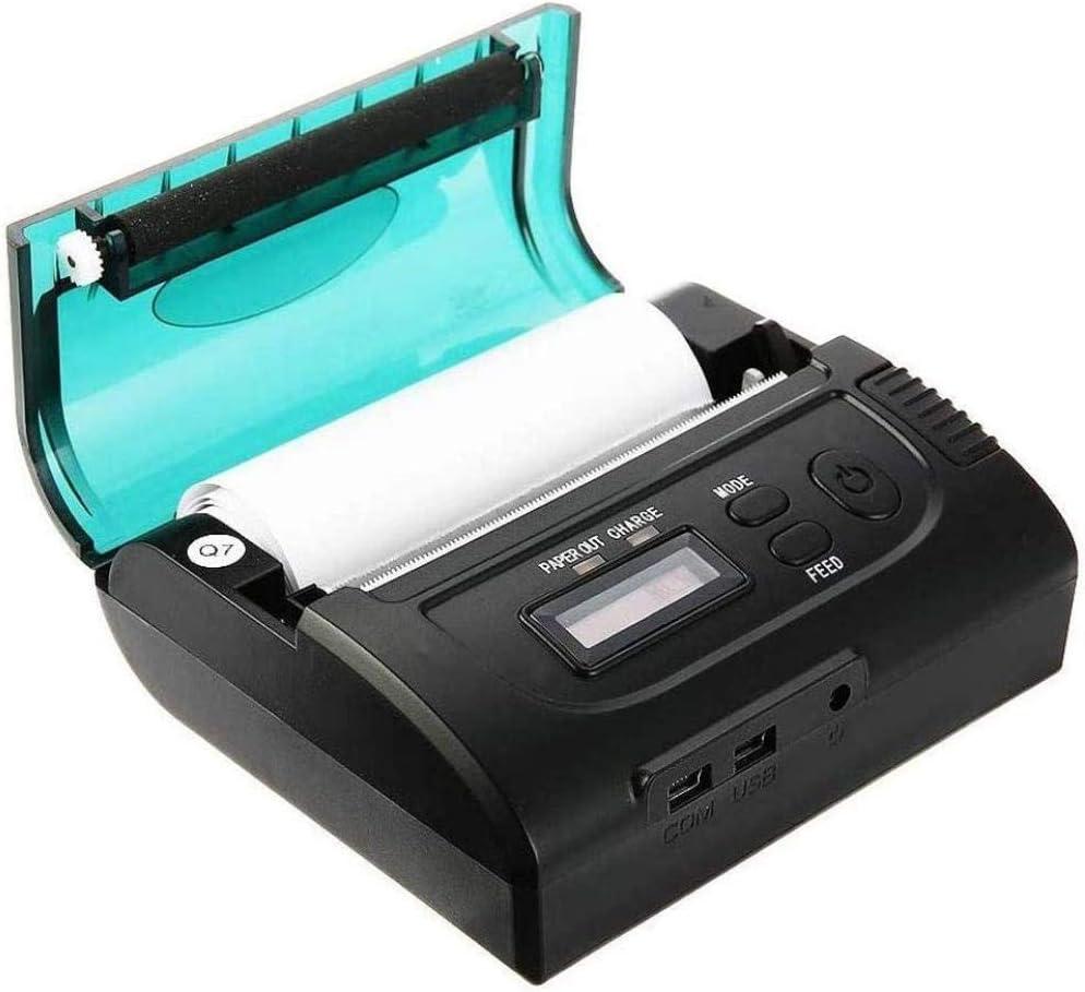 YAYY Impresora térmica inalámbrica portátil de 80 mm Impresora térmica de Recibos Mini POS térmica Bluetooth(Upgrade)