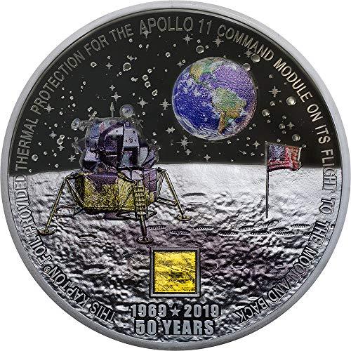 2019 CK Modern Commemorative PowerCoin MOON LANDING Apollo 11 50th Anniversary 3 Oz Silver Coin 20$ Cook Islands 2019 Proof