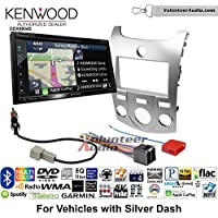 Volunteer Audio Kenwood Excelon DNX694S Double Din Radio Install Kit with GPS Navigation System Android Auto Apple CarPlay Fits 2011-2013 Kia Forte (Silver)