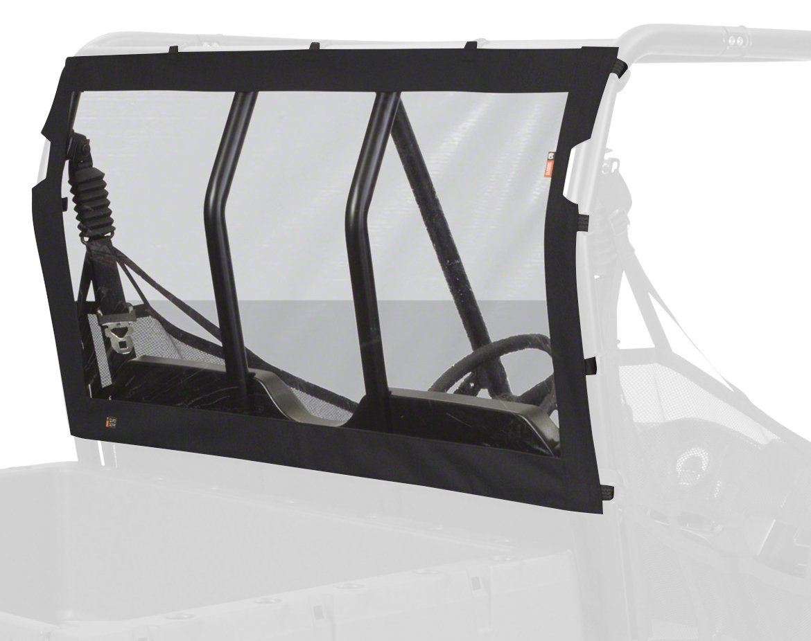 Classic Accessories Black UTV Rear Window with Fast Straps - Four Wheeler Accessories for Polaris Ranger (18-155-010401-RT)