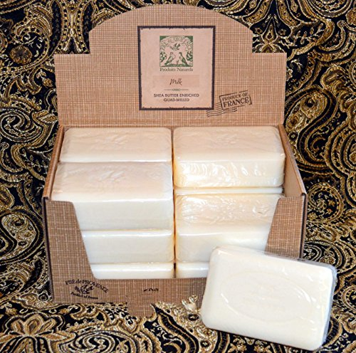 (Case of 12 Pre de Provence Sweet Milk 250 gram shea butter extra large soap bars (Display box not included))