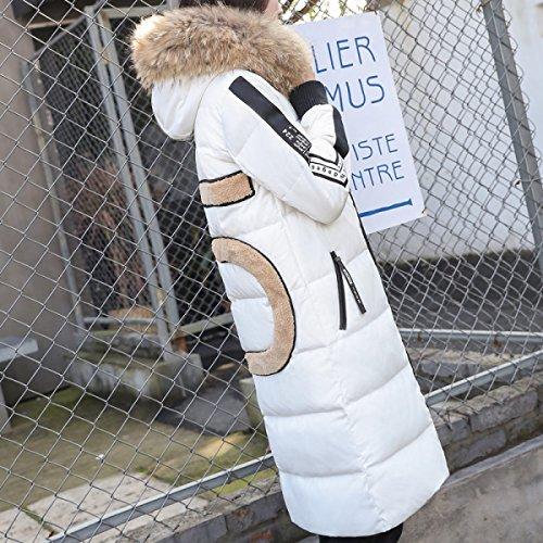 Di Di Auto Tratto Piumino Ginocchio Outwear coltivazione Un Pelliccia Piumino Collo Cappotto Era Lungo Nihiug Sottile wa0xzqBw
