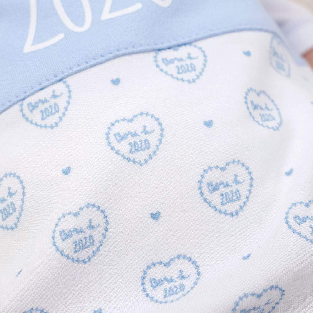 Baby Sweets Jungen Set Strampler Shirt blau wei/ß 62 Baby Outfit 2 Teile f/ür Neugeborene /& Kleinkinder Gr/ö/ße: 0-3 Monate Motiv: Born in 2020