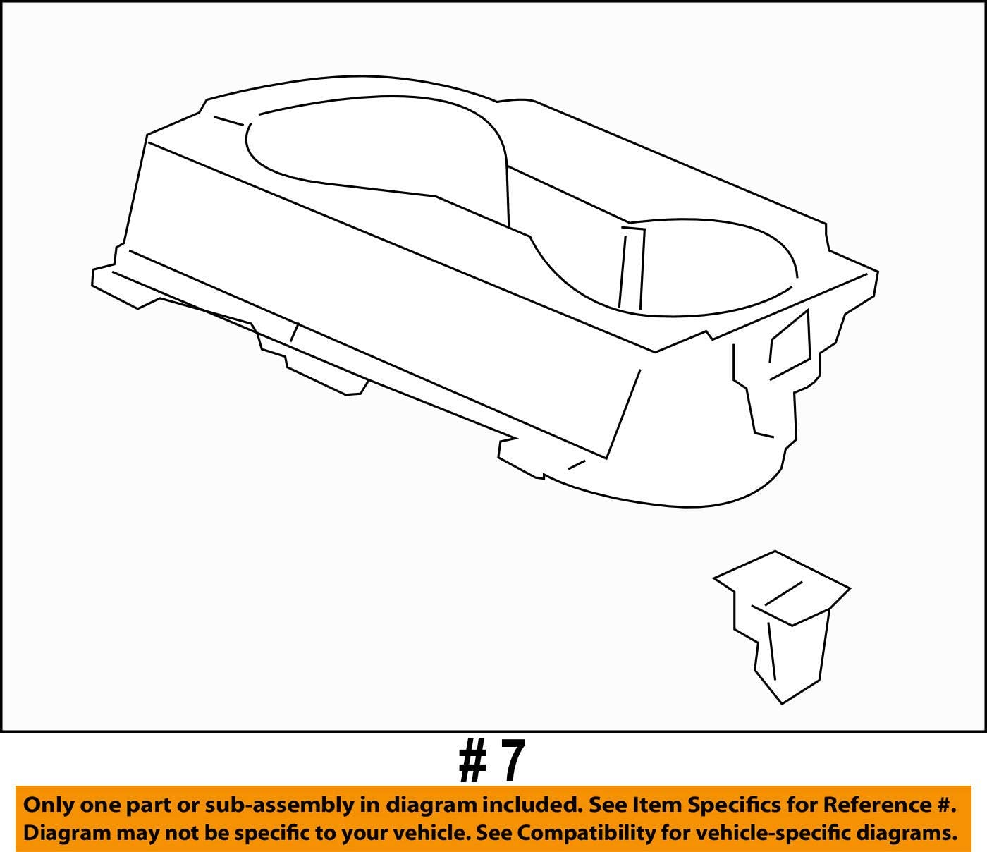 Genuine Honda 83411-TK8-A01ZB Front Floor Cup Holder Assembly