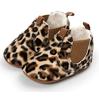 FuzzyGreen Leopard Baby Ankle Boots, Premium Soft Comfortable Cotton Infant Mocasin Shoes For Baby Boys