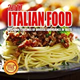 2017 Italian Food Calendar - 12 x 12 Wall Calendar - 210 Free Reminder Stickers