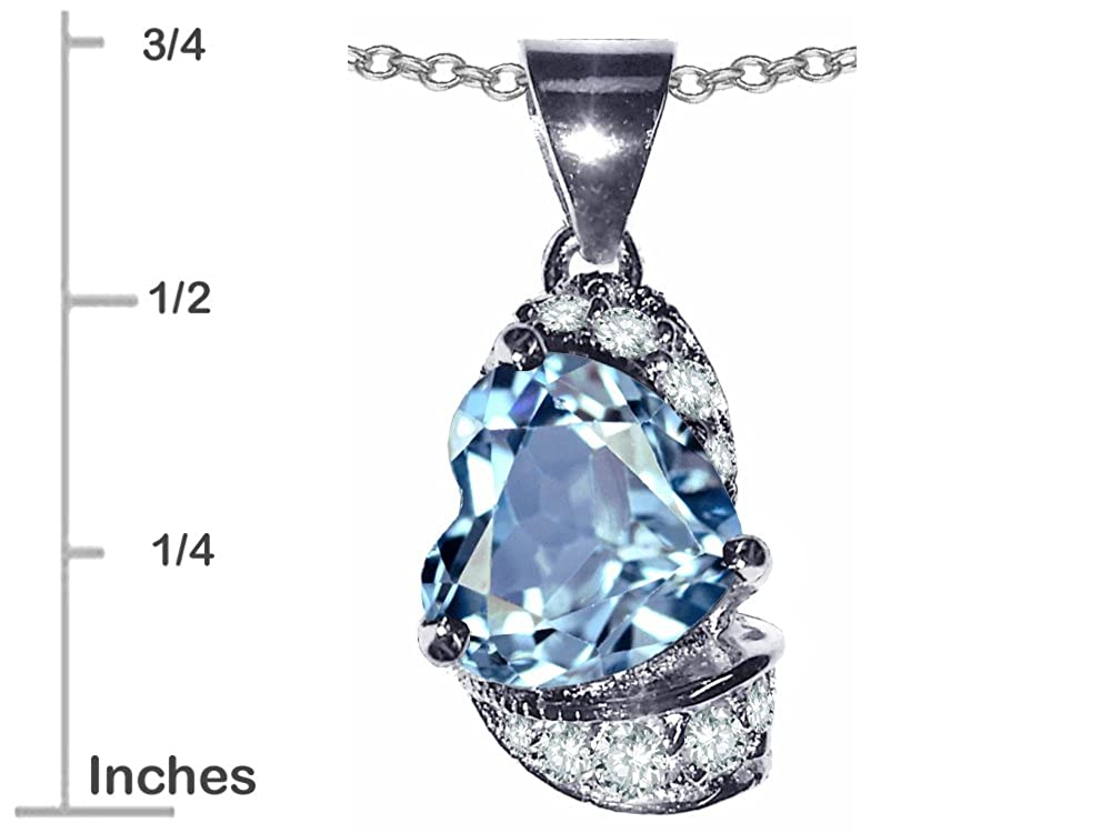 Star K Sterling Silver Heart Shape 8mm Pendant Necklace