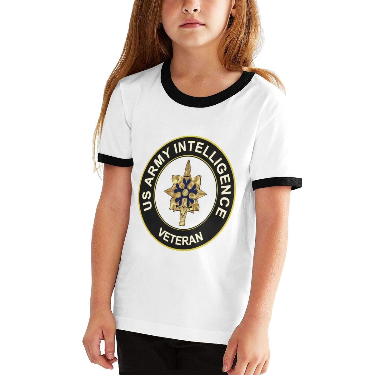 Kids Or Little Boys and Girls Manlee US Army Intelligence Unisex Childrens Short Sleeve T-Shirt